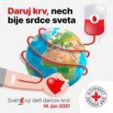 Dnes je Svetový deň darcov krvi